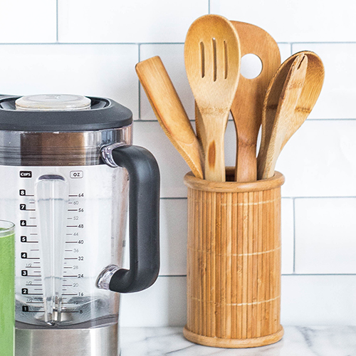 Bamboo kitchen utensils as example of sustainable promotional products