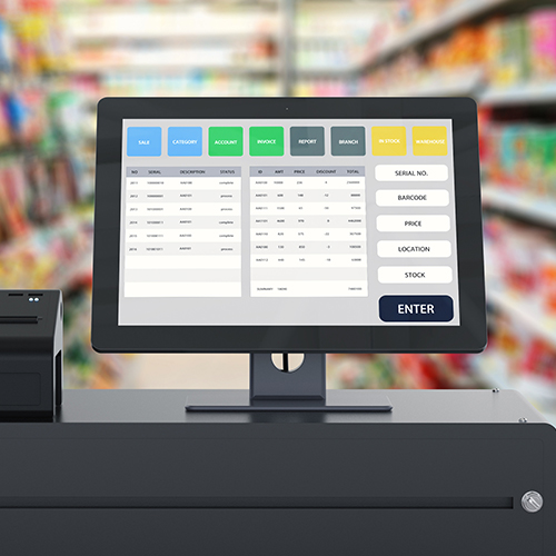 Custom marketing collateral ordering system technology in convenience c store