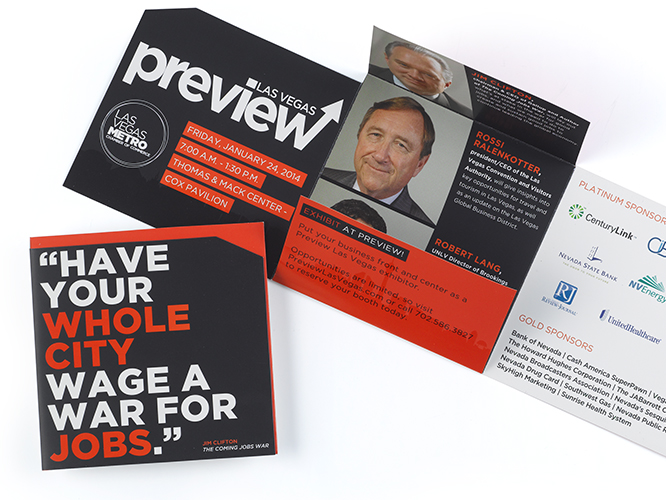 Custom printed direct mail marketing collateral piece