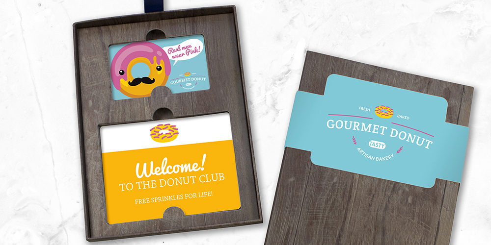A custom designed and personalized gift and loyalty card program for a restaurant chain