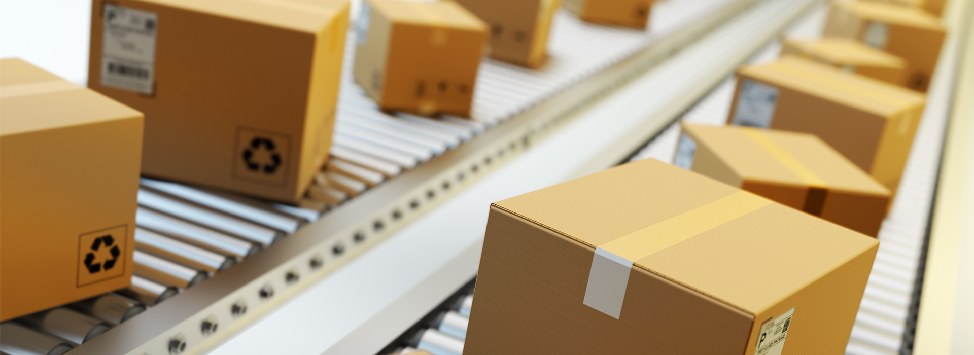 Closeup of warehouse kitting and fulfillment process for print on demand materials
