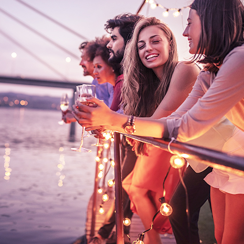 Millennial consumers drinking wine in a social setting