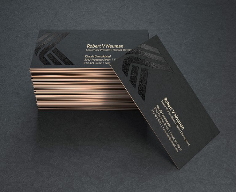 business cards with foil and spot gloss