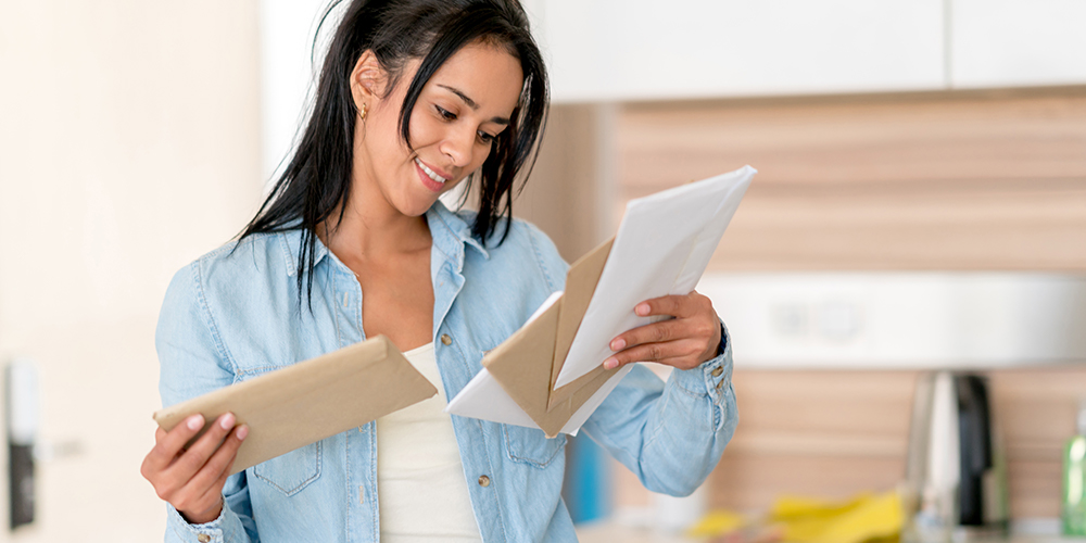 woman reading secure communication